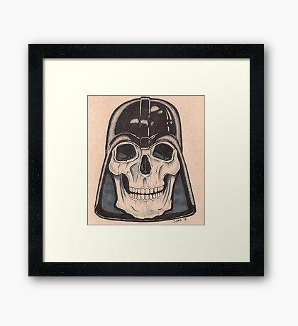 Death Vader Framed Print