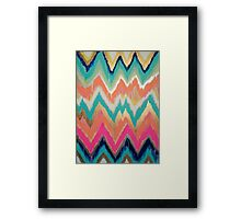 Modern Bright Chevron Zig Zag Stripe Pattern Framed Print