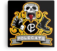 Polecats Patch Metal Print