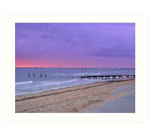 Sunset on Elwood Beach Art Print