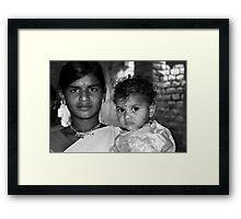 She is mother Framed Print