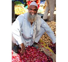 Onion seller Photographic Print