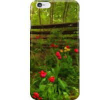 Dreamy Forest With Tulips - Impressions Of Spring iPhone Case/Skin