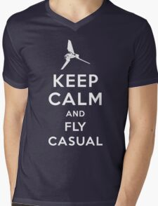 Keep Calm and Fly Casual Mens V-Neck T-Shirt