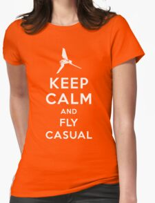 Keep Calm and Fly Casual Womens Fitted T-Shirt