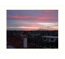 Elwood Sunset Art Print