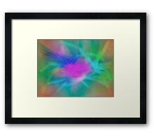 Pastel Abstract /Easter Colors Framed Print