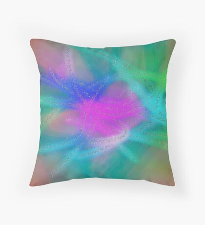 Pastel Abstract /Easter Colors Throw Pillow