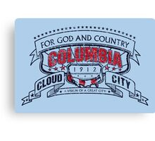 Columbia City Distressed Canvas Print