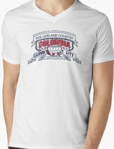 Columbia City Distressed Mens V-Neck T-Shirt