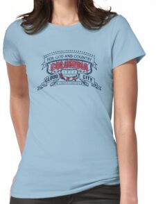 Columbia City Distressed Womens Fitted T-Shirt