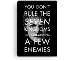 The Antisocial King Canvas Print