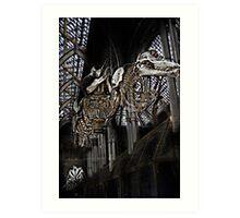 flying skeletons Art Print