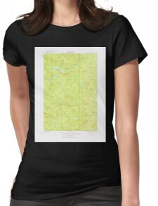 Maine USGS Historical Map Allagash Falls 460079 1932 62500 Womens Fitted T-Shirt