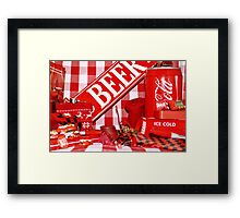 Red Gingham Photography Framed Print