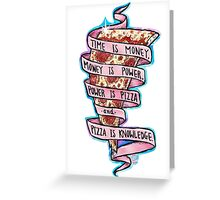 Pizza is Knowledge CutOut Greeting Card