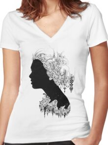 Where is my mind Women's Fitted V-Neck T-Shirt