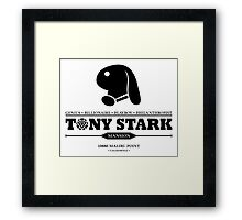 Tony Stark Mansion (Black) Framed Print