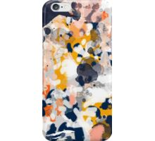 Stella - Abstract painting in modern fresh colors navy, orange, pink, cream, white, and gold iPhone Case/Skin