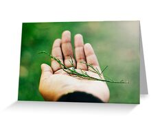 nobody,not even the rain,has such small hands. ~e.e.cummings Greeting Card