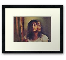 """A pale reflection of myself wavers in my consciousness...and suddenly the """"I"""" pales, pales, and fades out."""" ~Jean-Paul Sartre Framed Print"""