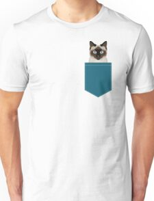 Ezra - Siamese Cat, Cute Kitten Retro Cat Art cell phone case, siamese, cute cat Unisex T-Shirt