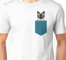 Ezra - Siamese Cat, Cute Kitten Retro Cat Art cell phone case, siamese, cute cat Unisex T-Shirt