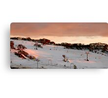 Front Valley, Perisher Blue Canvas Print