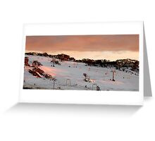 Front Valley, Perisher Blue Greeting Card