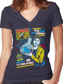 Pinkman's World Women's Fitted V-Neck T-Shirt