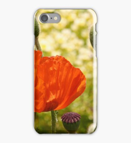 Poppy and Buds iPhone Case/Skin