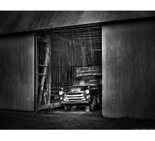 The old truck out back Photographic Print