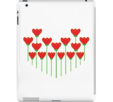 Red Flowering Heart iPad Case/Skin