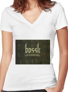 Bossk Women's Fitted V-Neck T-Shirt