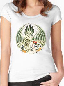 Asian Art Crane Women's Fitted Scoop T-Shirt