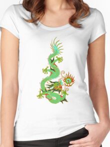 Asian Art Chinese Dragon Women's Fitted Scoop T-Shirt