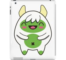 Cute Green Yeti iPad Case/Skin