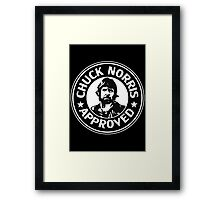 Chuck Norris Approved Framed Print