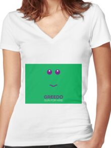 Greedo - Star Wars Women's Fitted V-Neck T-Shirt