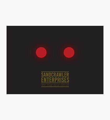 Sandcrawler Enterprises - Jawa - Star Wars Photographic Print
