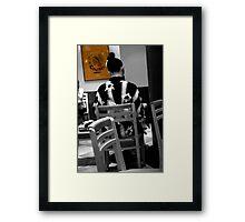 starbucks tokyo Framed Print
