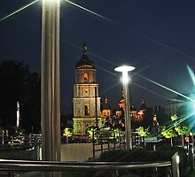 Saint Sophia Cathedral at Night by LudaNayvelt