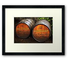 MacAllan Casks - Scotland Framed Print