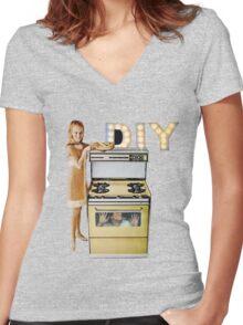 DIY. Women's Fitted V-Neck T-Shirt