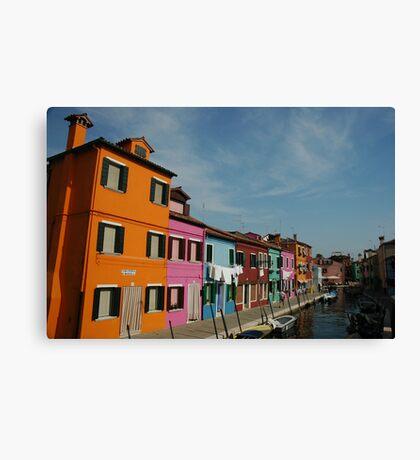 Burano Houses Canvas Print