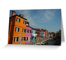 Burano Houses Greeting Card