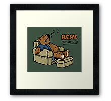 Bear Minimum Framed Print