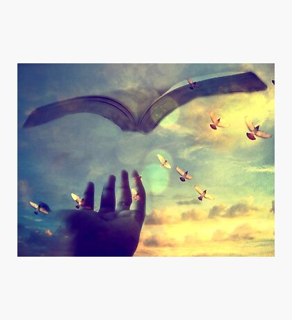 Flying book Photographic Print