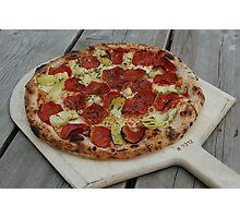 Artichoke Pizza Photographic Print