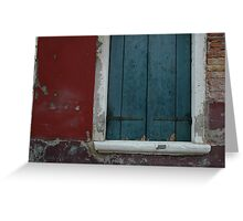 Burano Window Greeting Card